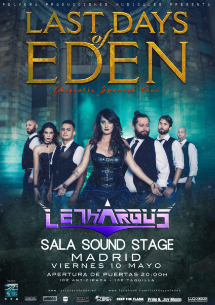 Concierto Last Days Of Eden + Lethargus – Sala Sound Stage (Madrid)